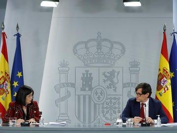 Carolina Darias y Salvador Illa comparecen en rueda de prensa