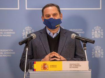 Imagen de Ábalos en rueda de prensa