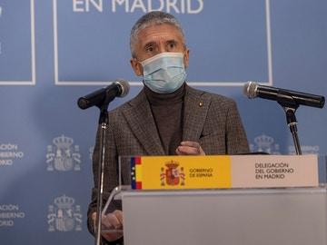 El ministro Marlaska en rueda de prensa