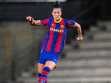 Jenni Hermoso, con el Barça