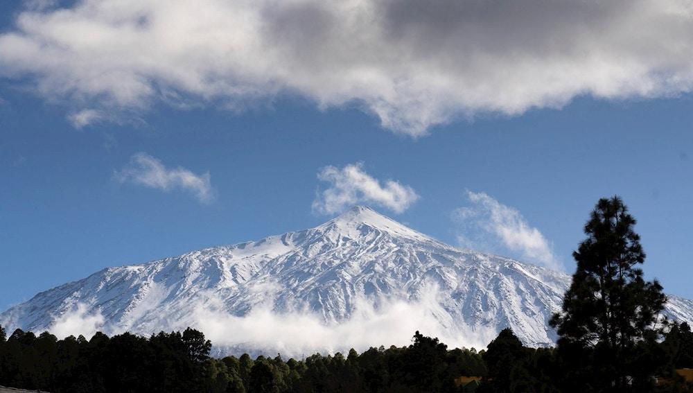 Imagen del Teide nevado