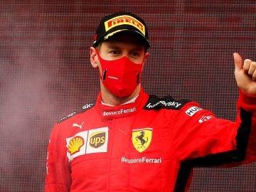Sebastian Vettel, con Ferrari