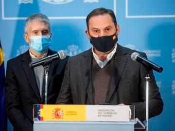 El ministro de Transportes, José Luis Ábalos, en rueda de prensa