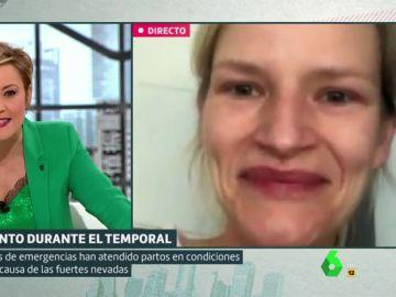 Ula, la mujer que dio a luz en el coche en Madrid