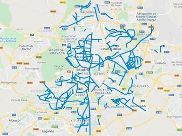 Mapa de las calles de Madrid donde ya ha sido retirada la nieve
