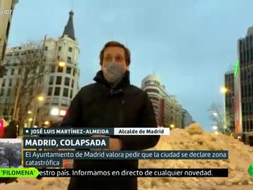 """Almeida alerta de que Madrid tardará en recuperar la normalidad tras la borrasca: """"Filomena ha tenido consecuencias devastadoras"""""""