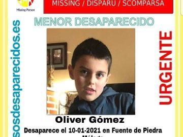 SOS Desaparecidos ha difundido la imagen del menor para que se le pueda localizar.