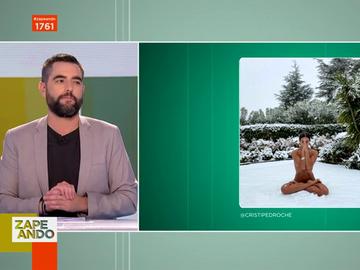 La reacción de Dani Mateo al ver el desnudo viral de Cristina Pedroche en la nieve