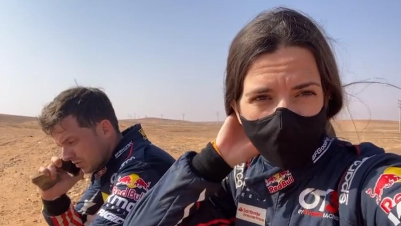 Cristina Gutiérrez y François Cazalet abandona el Rally Dakar