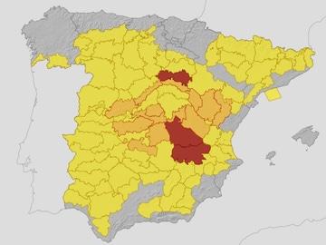 Alerta roja este martes en Albacete, Cuenca y Soria