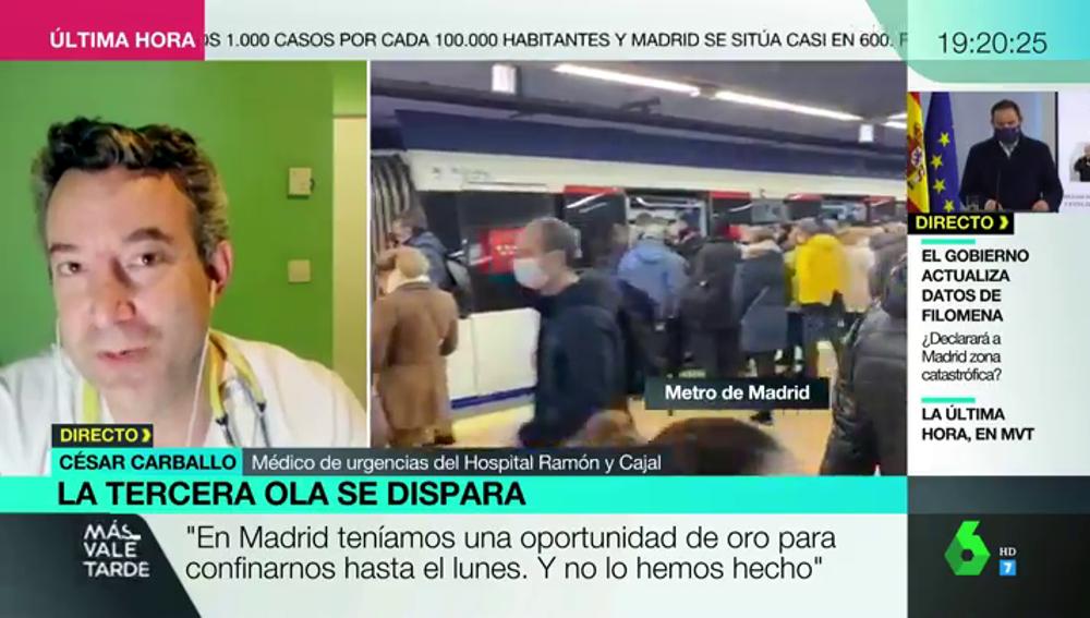 El doctor Carballo explica qué mascarilla llevar en el metro para ir seguro con las aglomeraciones