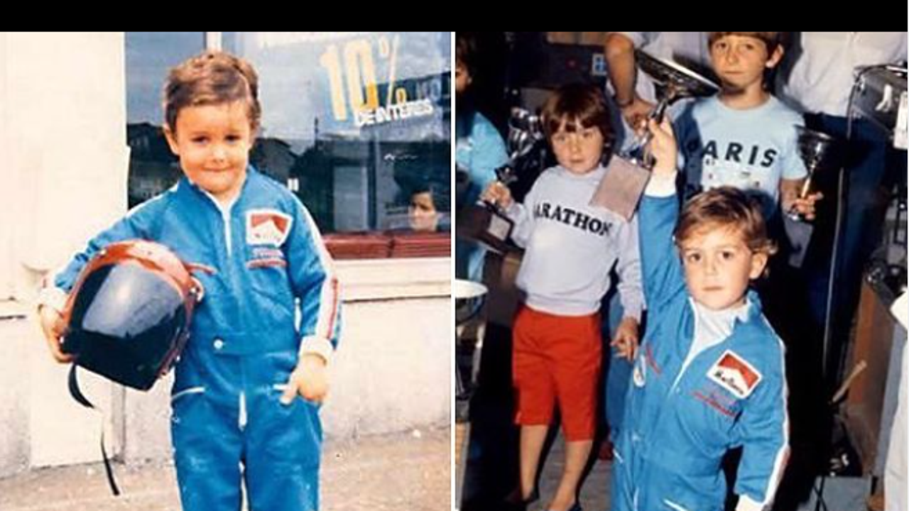 Fernando Alonso de niño en los Karts