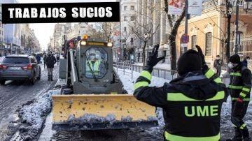 Trabajos de la UME en Madrid