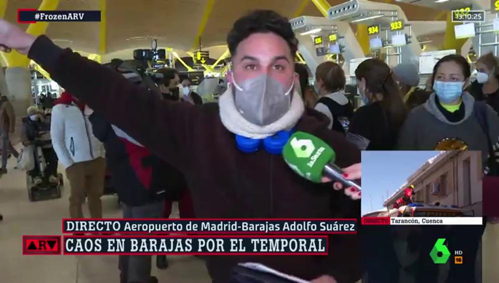 indignado en Barajas