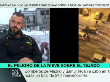 """El emotivo mensaje de un bombero tras el paso de Filomena: """"España es el mejor país del mundo por la gente que tiene"""""""