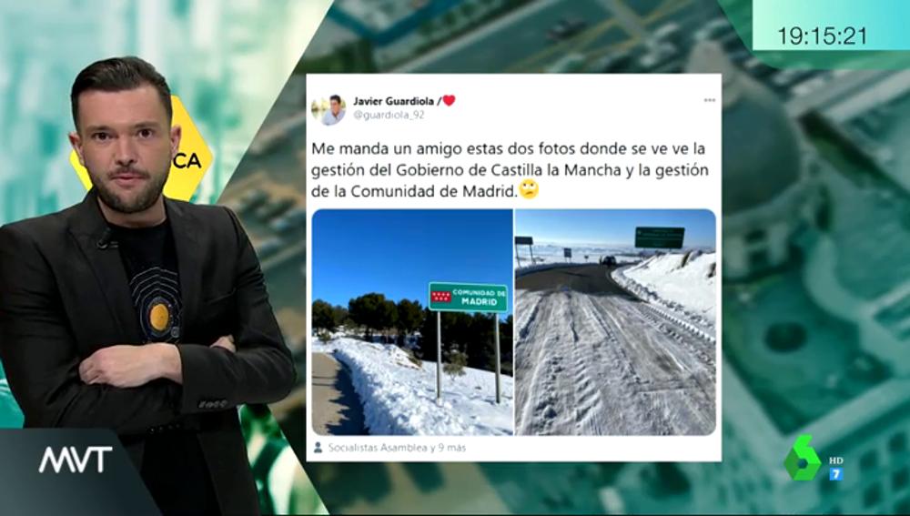 El reflejo de los límites territoriales: el tramo que separa Madrid de Castilla-La Mancha
