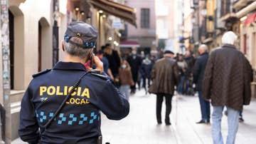 Imagen de un policía en Logroño