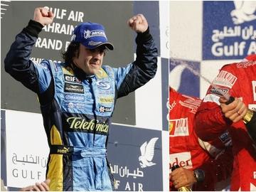 Fernando Alonso gana el GP de Baréin en 2006 y 2010