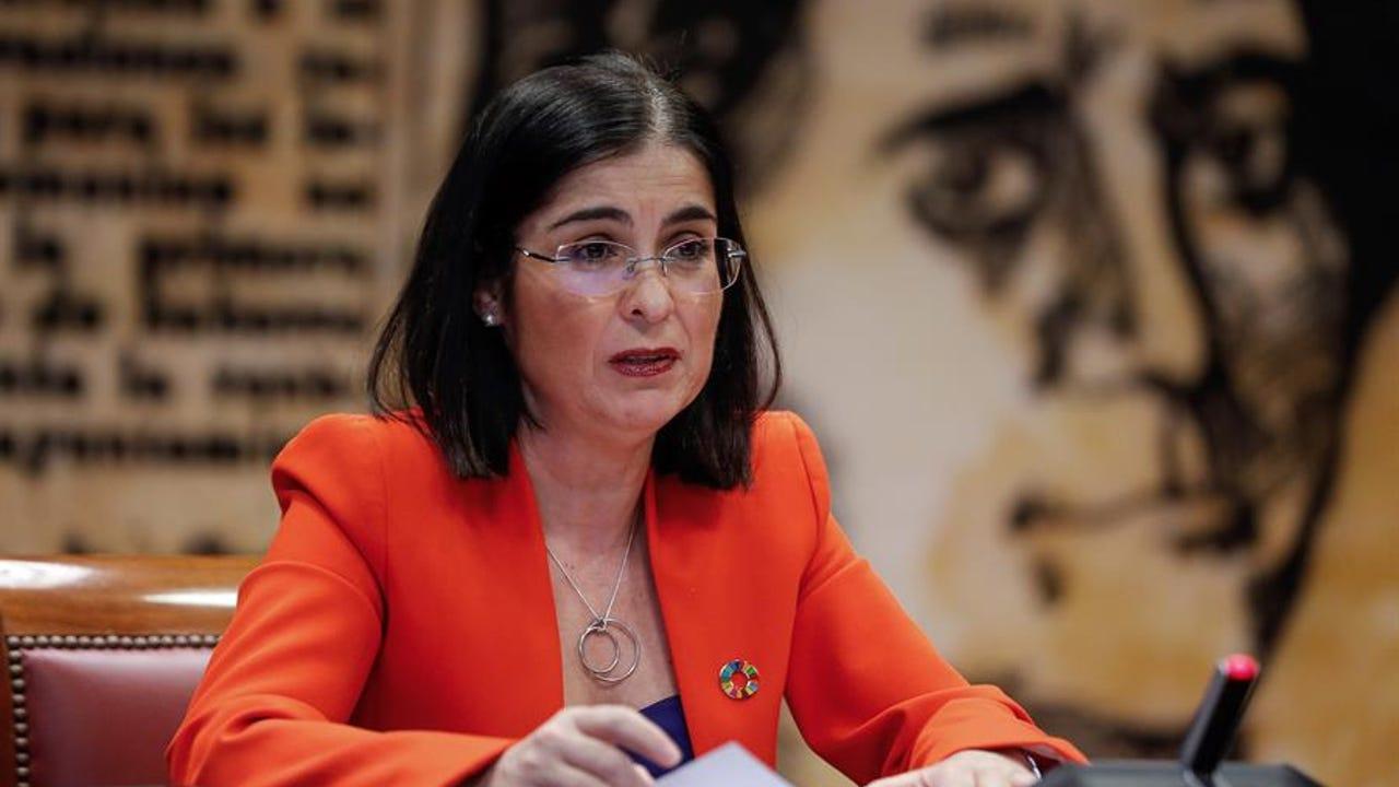 La nueva titular de Sanidad, Carolina Darias, en una comparecencia anterior en el Congreso.