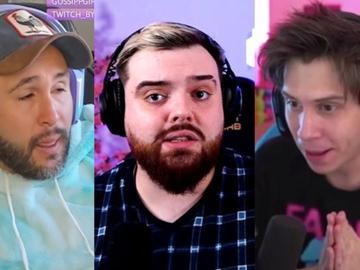De izquierda a derecha, Kiko Rivera, Ibai Llanos y Rubén Doblas -Rubius- durante sus directos en Twitch.