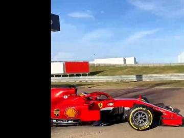 Carlos Sainz a los mandos del Ferrari