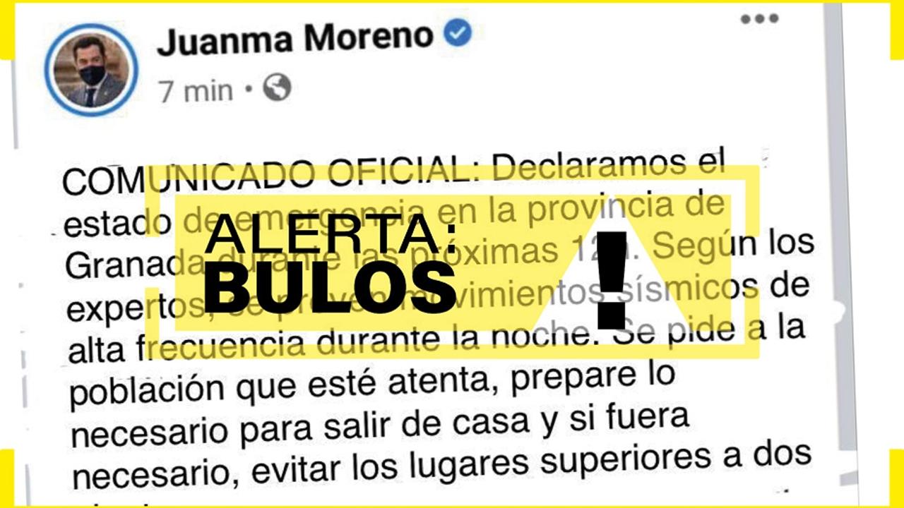 Falso tuit de Juanma Moreno difundido en redes sociales