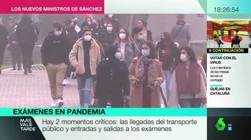Aglomeraciones, mascarillas sin homologar y el transporte abarrotado: las quejas de los estudiantes por los exámenes en pandemia