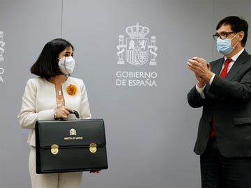 Carolina Darias recibe la cartera de Sanidad de Salvador Illa