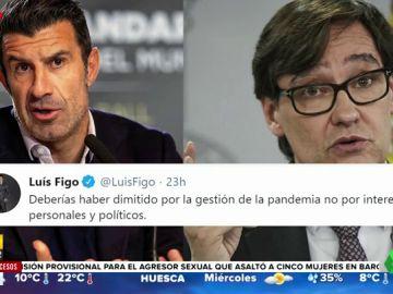 """El 'dardo' de Figo para despedirse de Salvador Illa: """"Deberías haber dimitido por la pandemia"""""""