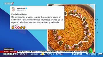 """Dabiz Muñoz responde a las críticas a sus paellas: """"El nivel de inteligencia de Twitter..."""""""