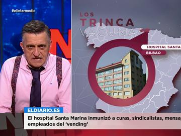 La indignación de Wyoming con el hospital de Bilbao que vacunó desde curas a sindicalistas