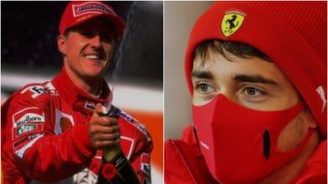 Michael Schumacher y Charles Leclerc