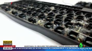 El vídeo que muestra la suciedad que se acumula bajo el teclado del ordenador