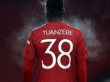 Axel Tuanzebe, jugador del Manchester United