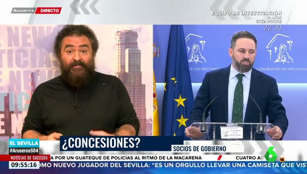 """El Sevilla cree que Vox pedirá a Sánchez """"beneficios para los cazadores"""" a cambio de su abstención con los fondos europeos"""