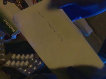 Imagen de una carta de La Veneno a su novio encontrada por la Policía