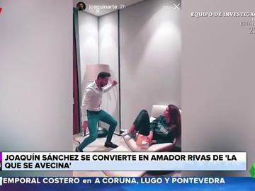 """La desternillante imitación de Joaquín Sánchez a Amador Rivas junto a su mujer: """"Eeeespartaco"""""""