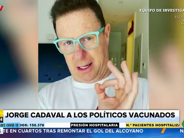 La aplaudida respuesta de Jorge Cadaval a todos los políticos que se han saltado el protocolo de vacunación