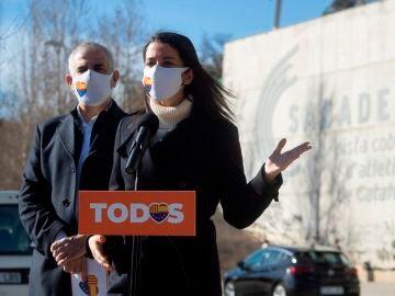 Inés Arrimadas, junto a Carlos Carrizosa