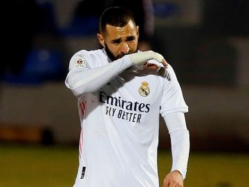 Benzema, con el Real Madrid