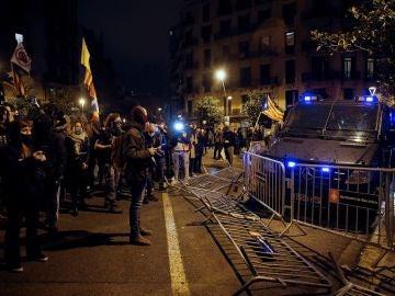Protesta en apoyo a Pablo Hasel en Barcelona