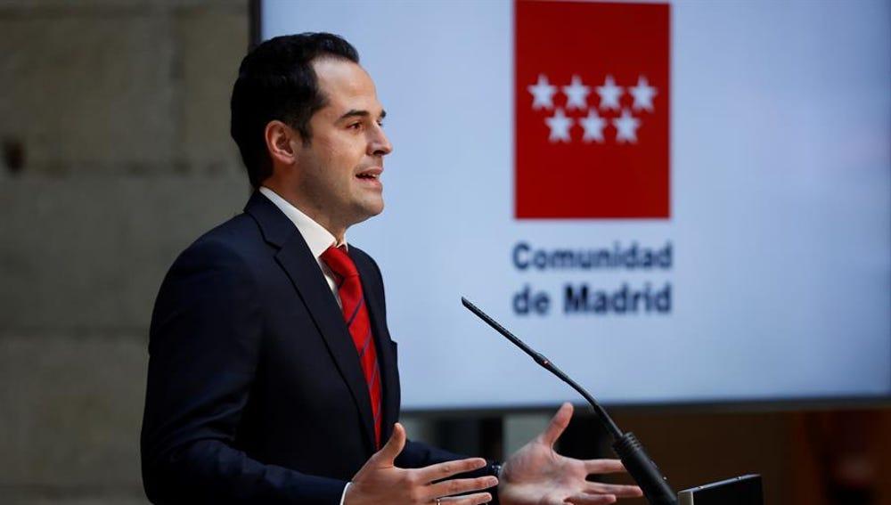 El vicepresidente de la Comunidad de Madrid, Ignacio Aguado.