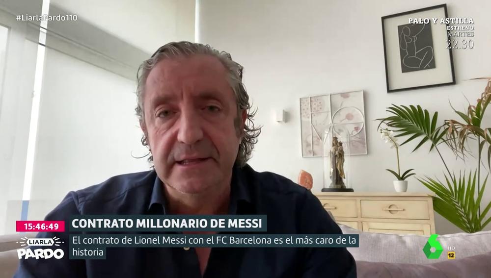 """Josep Pedrerol, tras saberse el sueldo de Messi: """"El séptimo mejor pagado en el Barça gana más que el primero del Real Madrid"""""""
