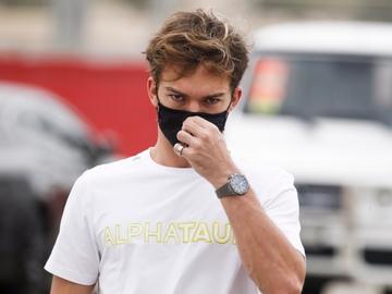 El piloto francés del equipo AlphaTauri, Pierre Gasly