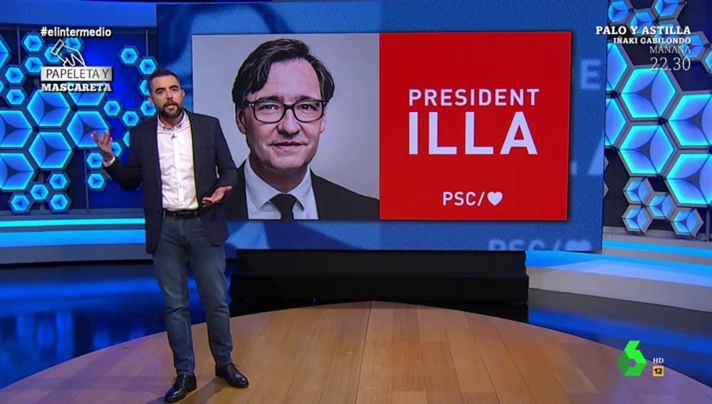 De la 'sorprendente' sonrisa de Illa a los emojis del PP: repasamos las campañas de los partidos en Cataluña