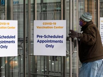 Un centro de vacunación de EEUU