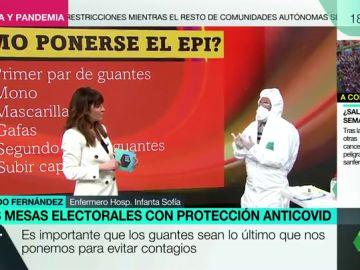 ¿Cómo ponerse y quitarse el EPI? Paso a paso para los miembros de las mesas electorales de las elecciones catalanas