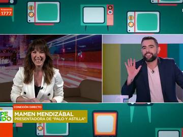 "El lapsus de Mamen Mendizábal en pleno directo que deja loco a Dani Mateo: ""¡Cuidado, Mamen!"""