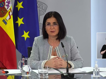 La ministra de Sanidad, Carolina Darias, durante una rueda de prensa