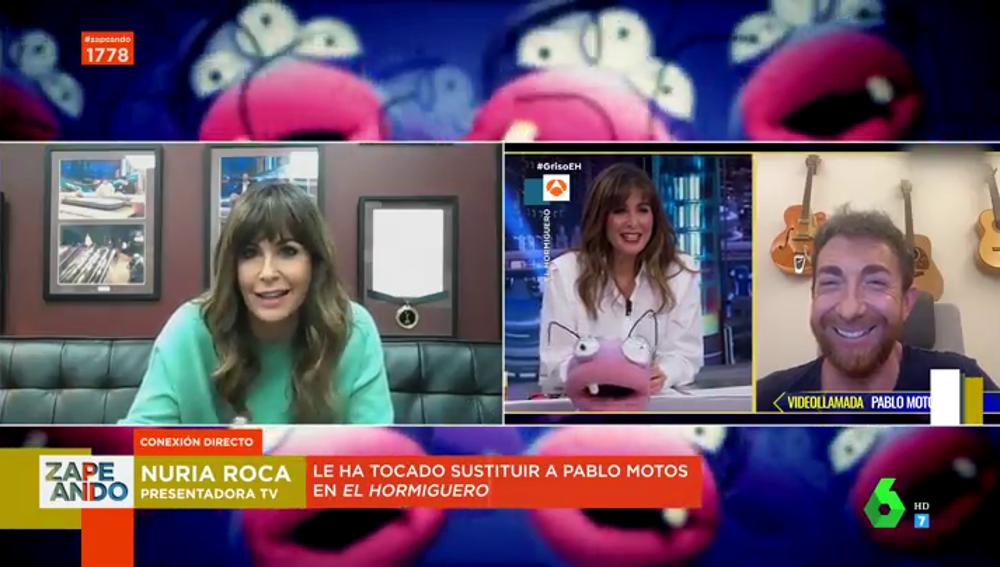 Nuria Roca desvela cómo le confesó Pablo Motos que debía sustituirle en El Hormiguero una hora antes del directo